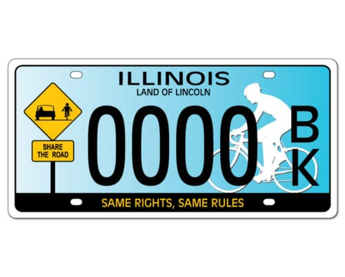 Share the Road License Plate